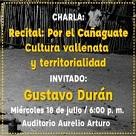 Recital: Por el cañaguate cultura vallenata y territorialidad