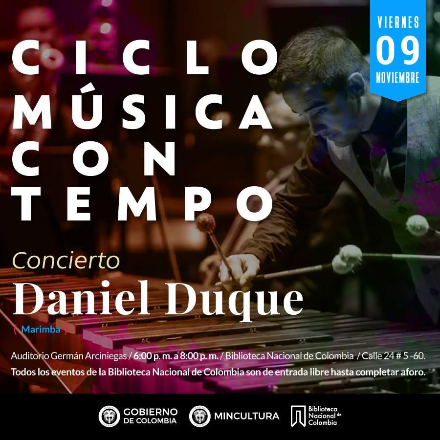 """Ciclo """"Música con Tempo Colombiano"""": Daniel Duque en concierto"""