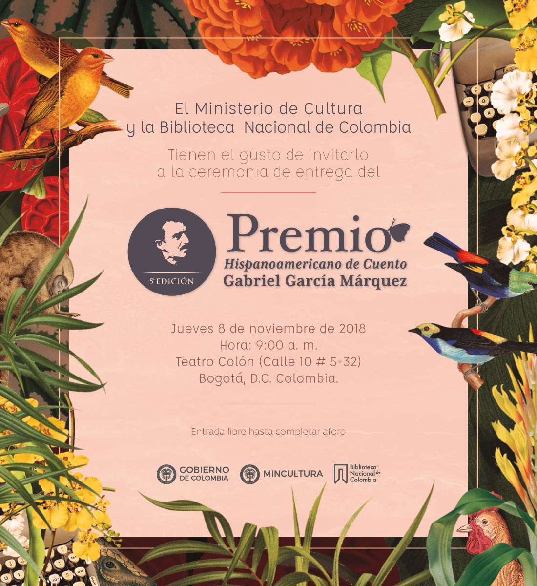 Ceremonia de entrega del V Premio Hispanoamericano de Cuento GGM