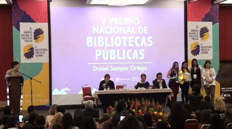Premiación Premio Nacional de Bibliotecas Públicas 2018 VI Congreso Nacional de Bibliotecas Públicas