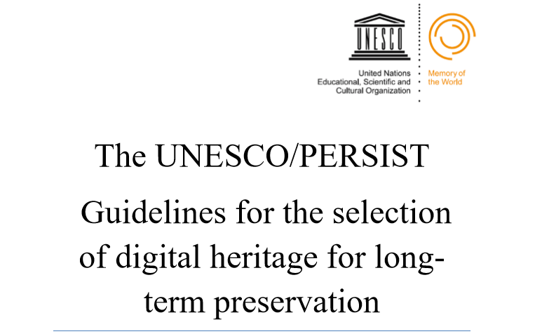 The UNESCO/PERSIST
