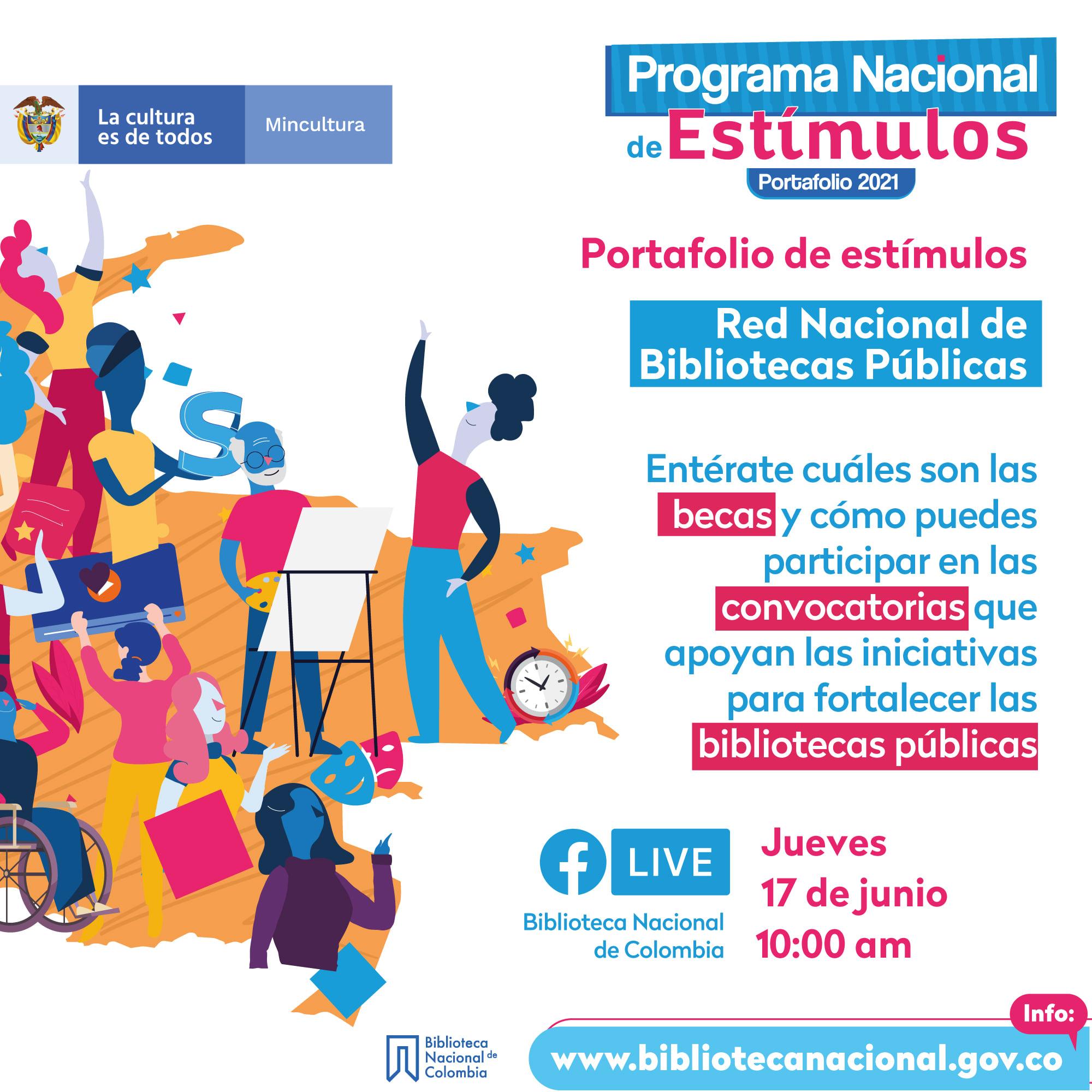 Facebook Live Programa Nacional de Estímulos 2021