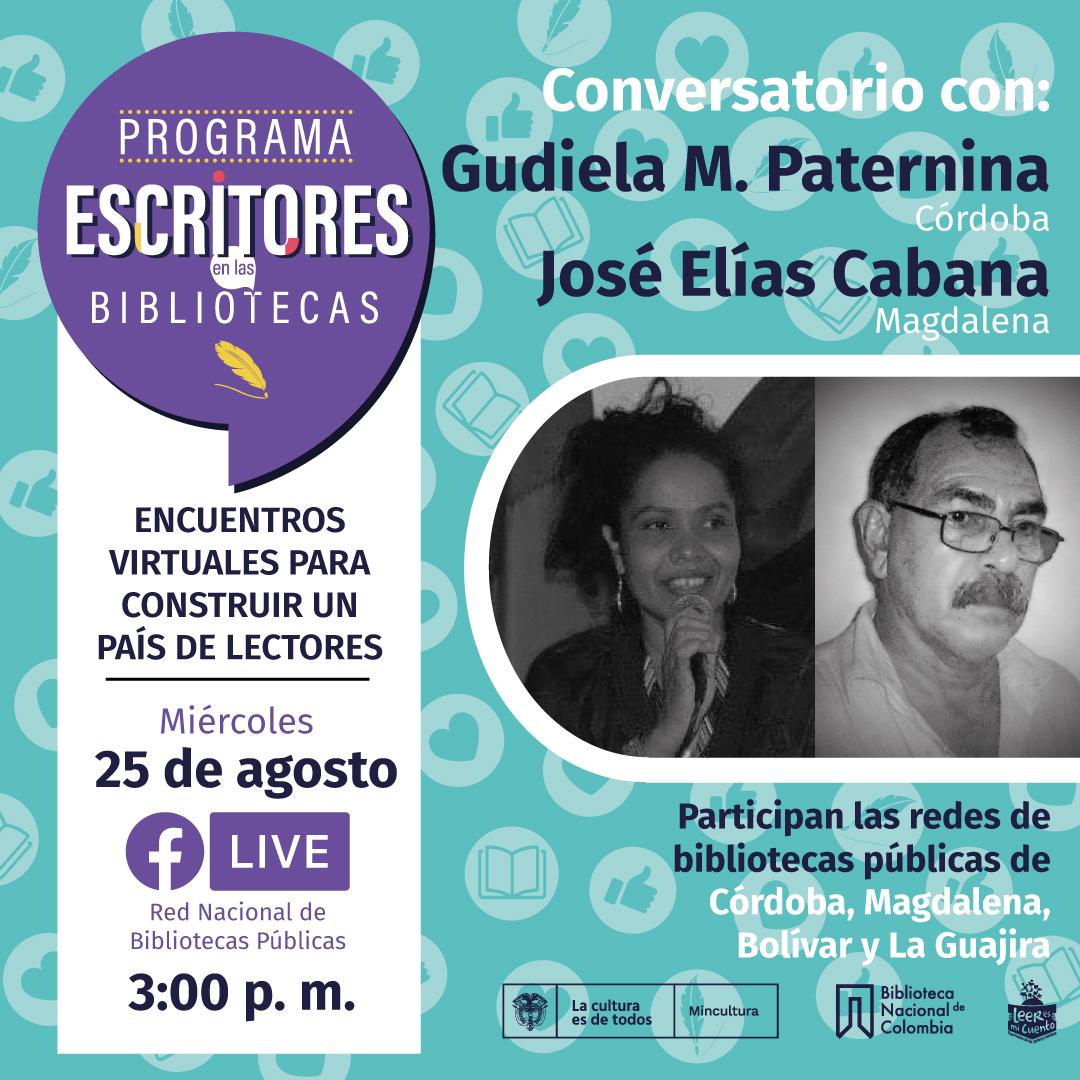 Escritores en Bibliotecas: Gudiela M. Paternina y José Elías Cabana
