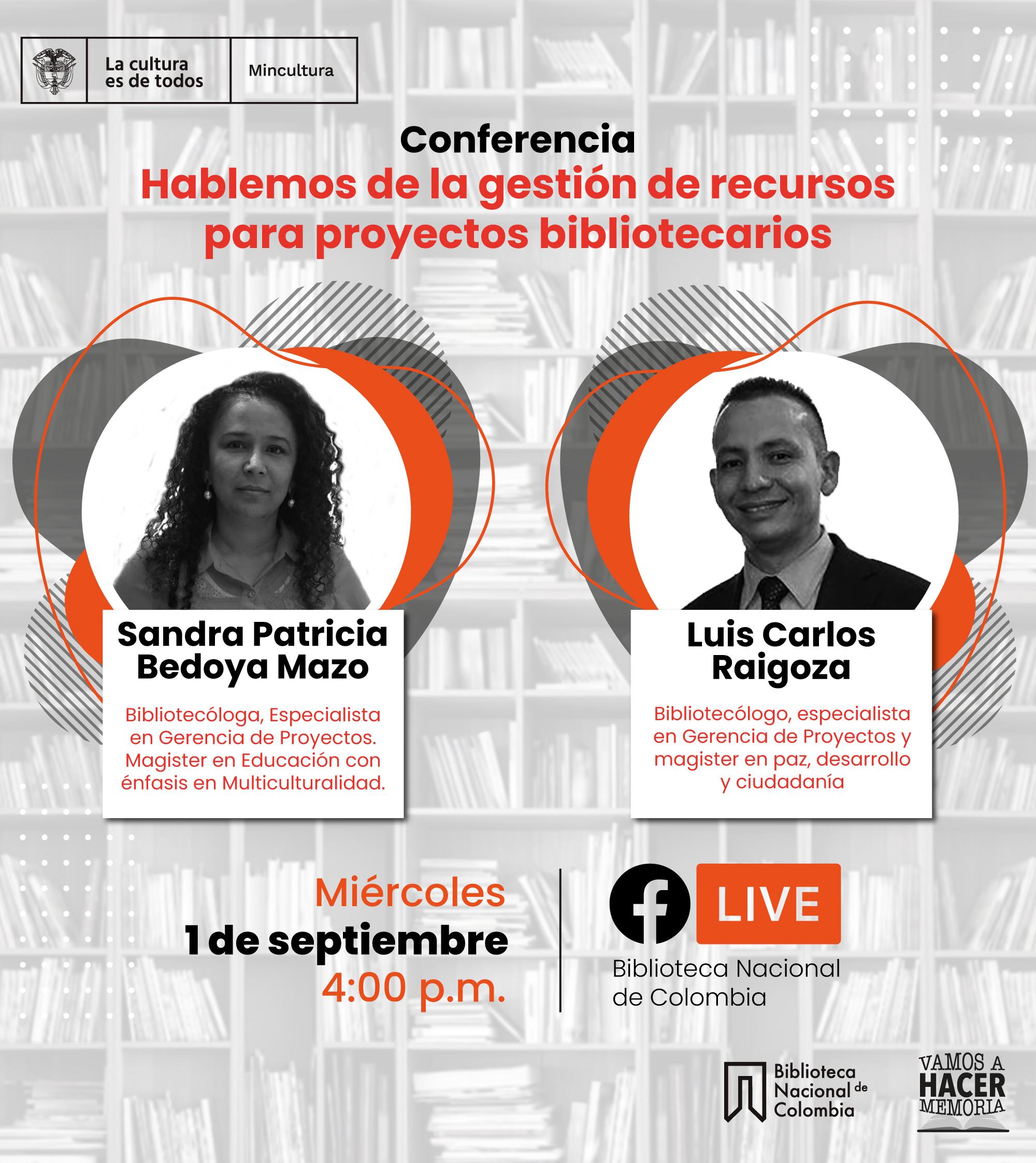 Conferencia sobre gestión de recursos para proyectos bibliotecarios