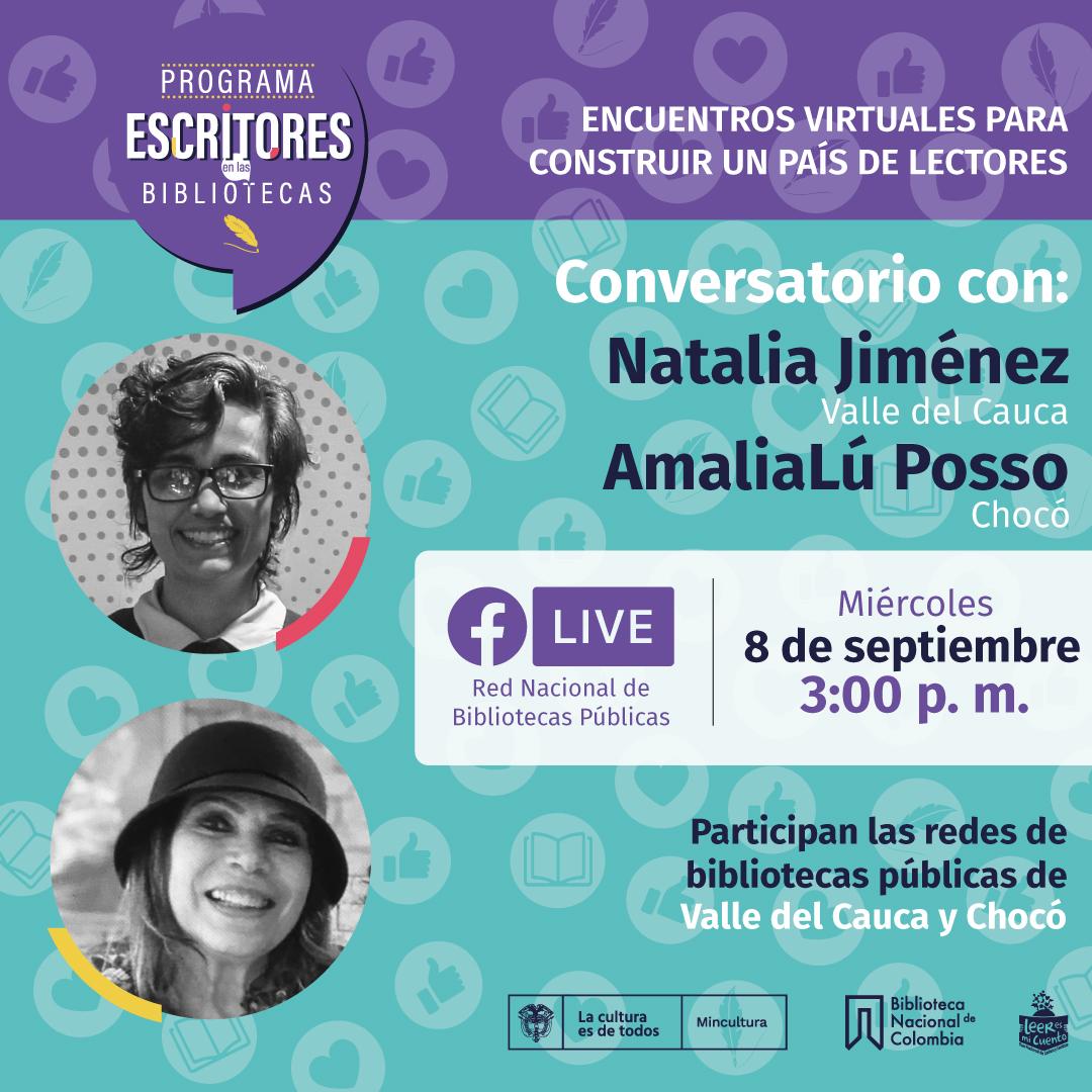 Escritores en las bibliotecas con Natalia Jiménez y AmaliaLú Posso