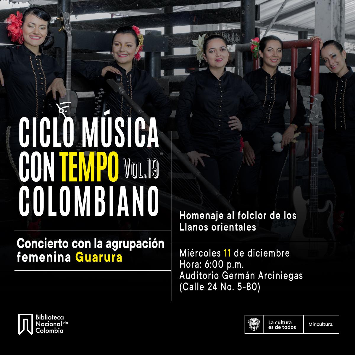 Música Con Tempo: Agrupación Guarura en concierto