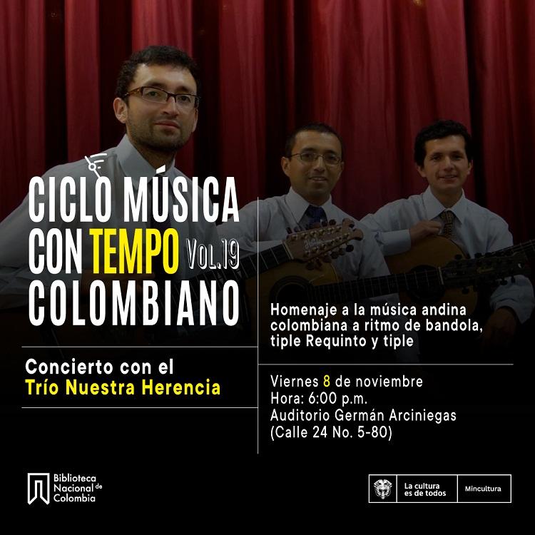 Música Con Tempo: Trío Nuestra Herencia en concierto